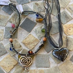 2 Heart Costume Jewelry Necklaces